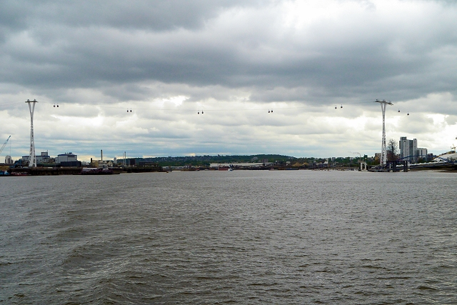 Cable Car Across The Thames