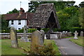 TQ2149 : Lych gate and cottage at St Michael's church, Betchworth by David Martin