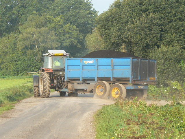 Loaded peat wagon on Westhay Moor Drove