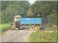 ST4643 : Loaded peat wagon on Westhay Moor Drove by Edwin Graham