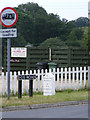 TG2704 : Fox Road sign & Milestone by Adrian Cable