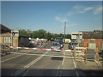 SX9193 : Station Road Level Crossing, Exeter St David's Station by Roy Hughes