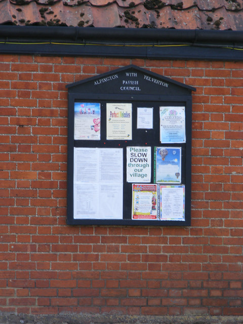 Apington & Yelverton village notice board
