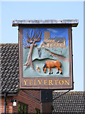 TG2902 : Yelverton Village sign by Adrian Cable