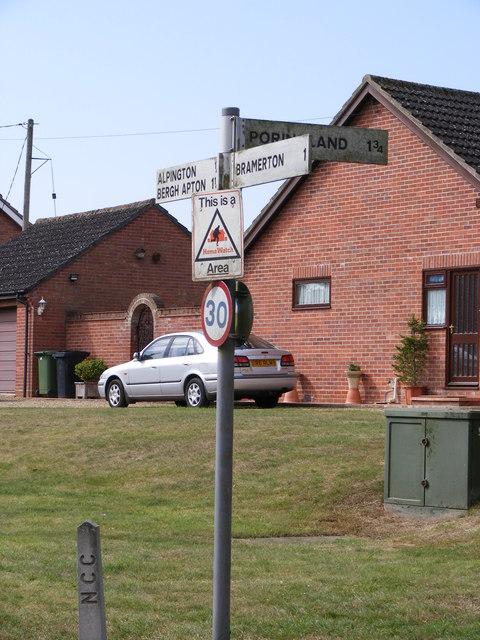 Roadsign on Church Road