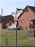 TG2902 : Roadsign on Church Road by Adrian Cable