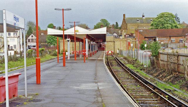 Hayes (Kent) station, 1992