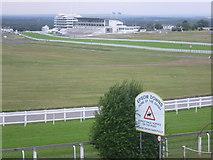 TQ2258 : View across Epsom Racecourse by Marathon