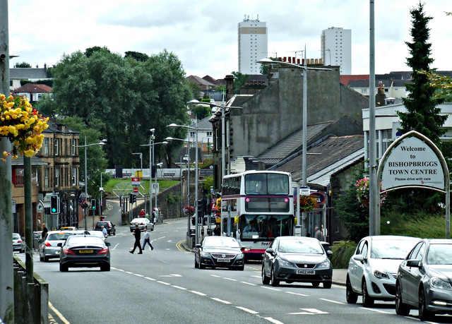 Bishopbriggs town centre by Thomas Nugent