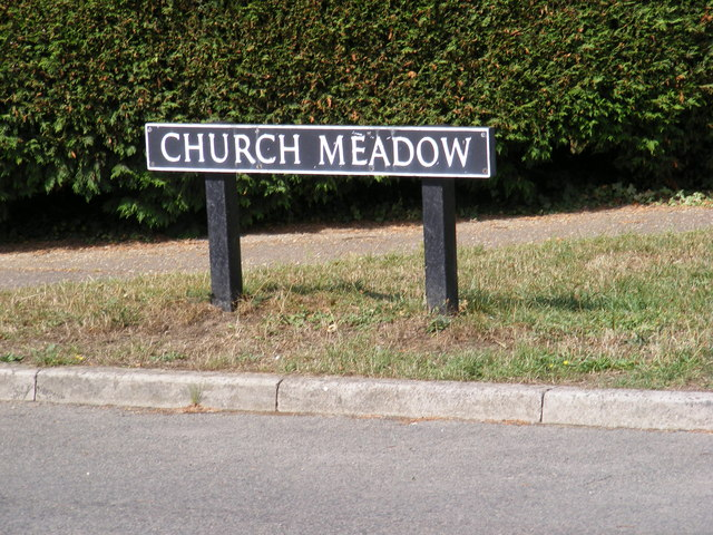 Church Meadow sign