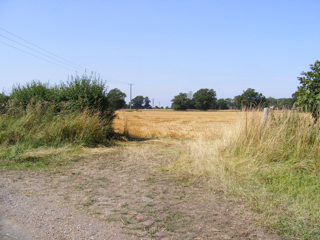 Field entrance off Backwood Lane