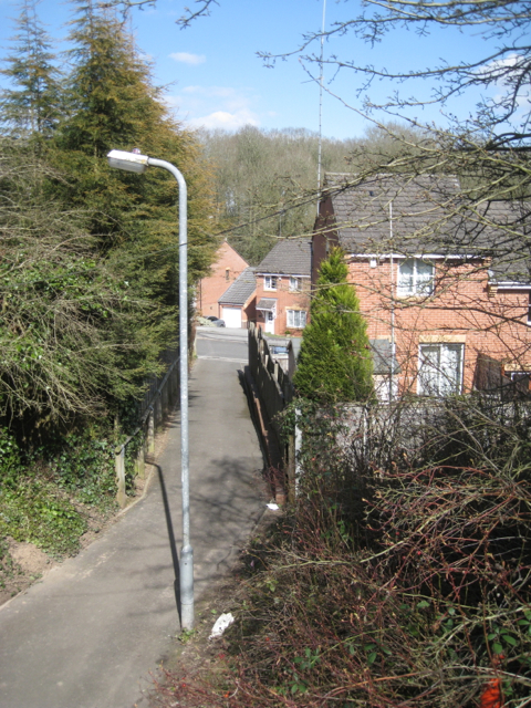 Shared path to Ellerdene Close, Headless Cross, Redditch