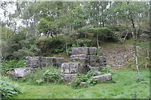 SK2479 : Ruined engine house in Bole Hill Quarry by Dave Pickersgill