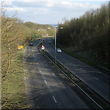 SP0366 : Bromsgrove Highway, A448, from Evesham Road, Headless Cross, Redditch by Robin Stott