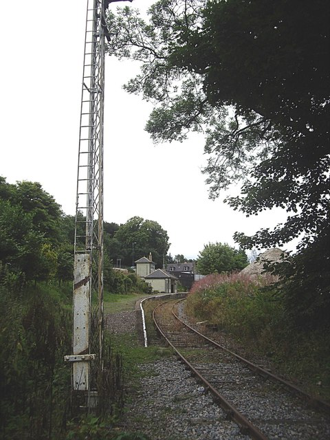 Looking south to Keith Town station
