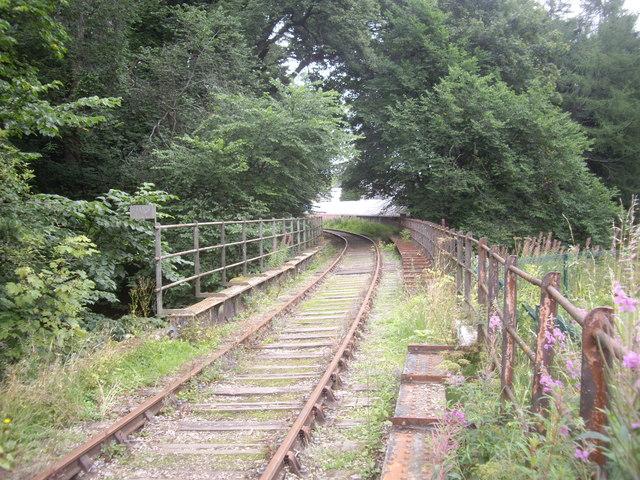 A railway bridge over the River Isla in Keith