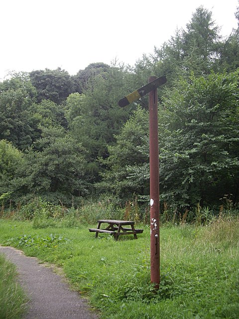 Picnic spot and 'play trains' track