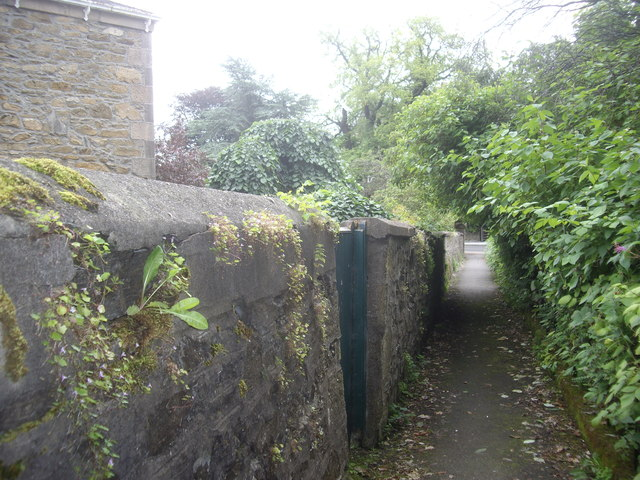 A walled pathway in Keith