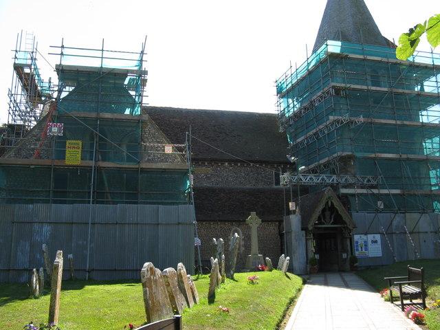 Repair work at St Thomas A Becket Pagham