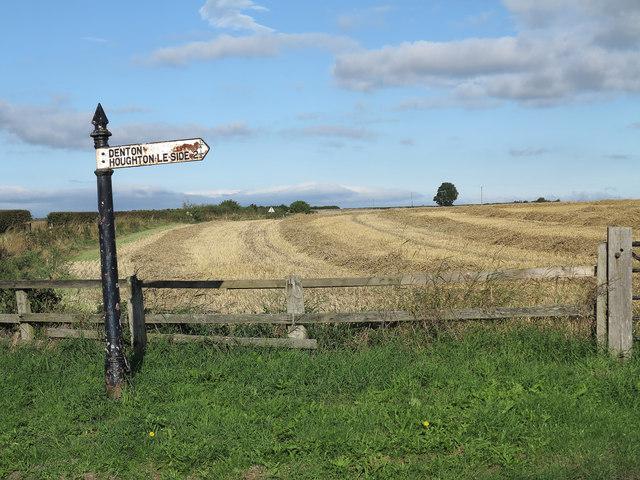 Stubble field near Denton