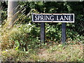 TM2591 : Spring Lane sign by Adrian Cable