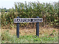 TM2591 : Barford Road sign by Adrian Cable
