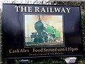 ST1871 : The Railway name sign, Penarth by Jaggery