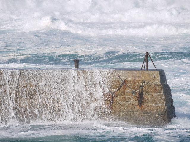 High seas at Sennen cove