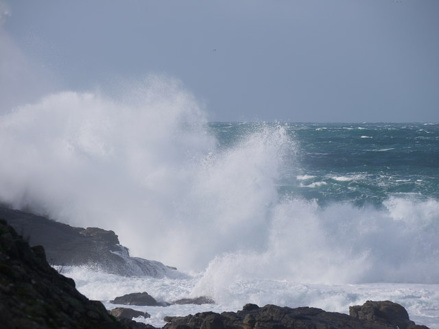 Sennen cove during stormy weather