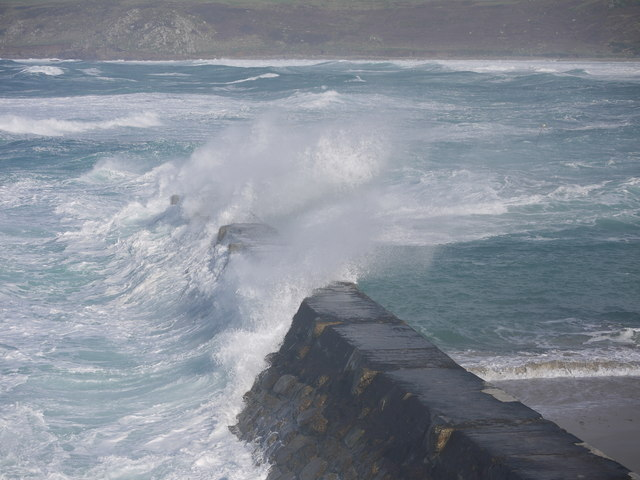 Rough seas at Sennen cove
