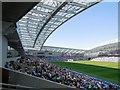 TQ3408 : West Stand, Amex Stadium by Paul Gillett