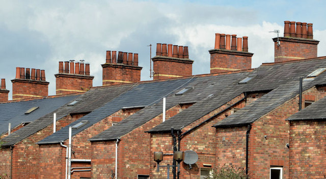 Chimney Stack and the Roof in a Home