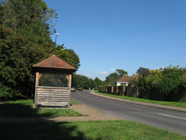 Bus stop on Aldwick Road approaching the B2166