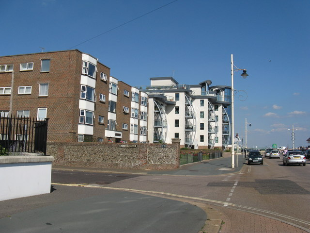 Modern apartments at the end of The Esplanade