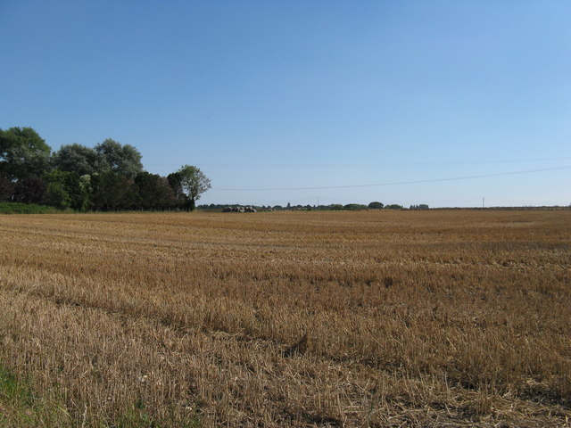 Stubble field south of Sack Lane