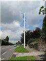 SJ7459 : Vodafone mast on Crewe Road, Wheelock by Stephen Craven