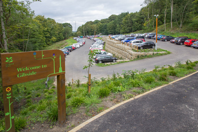 Lower car park area, Gibside