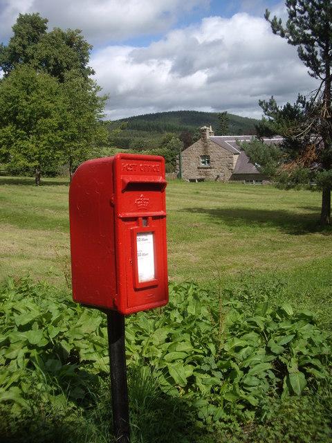 A pillar-mounted rural postbox