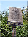 TM3394 : Thwaite St.Mary Village sign by Adrian Cable