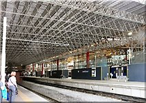 SJ8499 : New roof under construction at Manchester Victoria by Gerald England