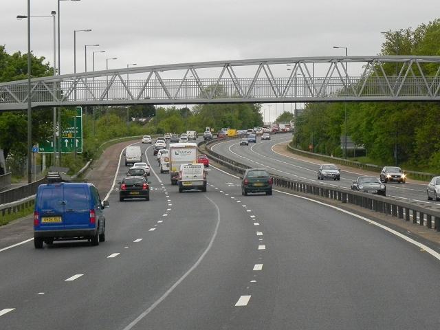 Footbridge over East Rochester Way (A2)