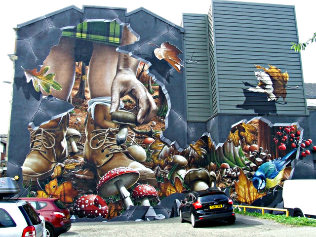 City Halls graffiti style mural