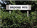 TM3491 : Broome Pits sign by Adrian Cable