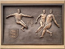 SD6409 : Commemorative Plaque for Nat Lofthouse, Reebok Stadium by David Dixon