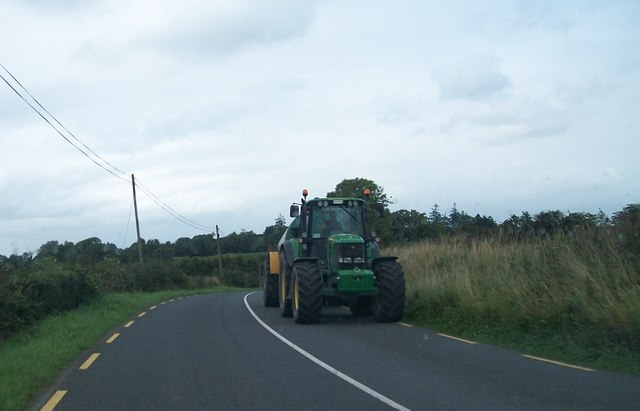 Tractor on the R191 just north of the Cavan-Meath border