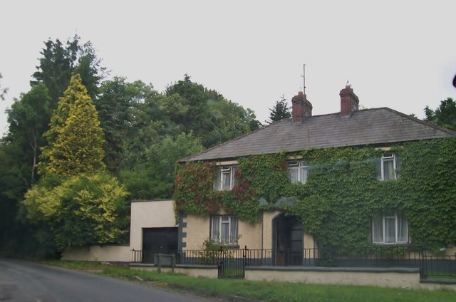 Ivy covered house on R191 at Cormeen Cross Roads