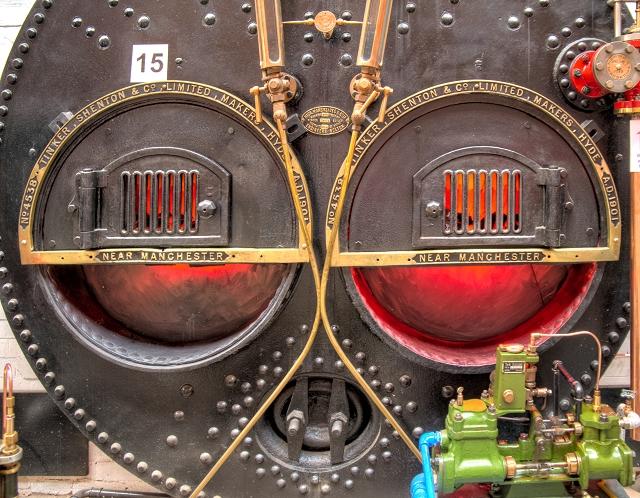 Lancashire Boiler Front, Bolton Steam Museum