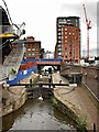 SJ8397 : Rochdale Canal, Lock #90 and Albion Street Bridge by David Dixon