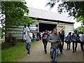 H4379 : Pennsylvanian Log Barn, Ulster American Folk Park by Kenneth  Allen