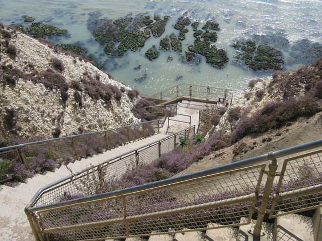 Bastion steps at Peacehaven cliffs